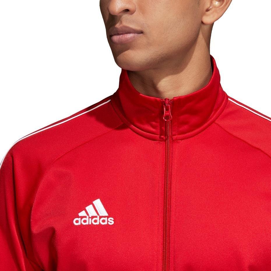 Bluza męska adidas Core 18 Polyester Jacket czerwona CV3565