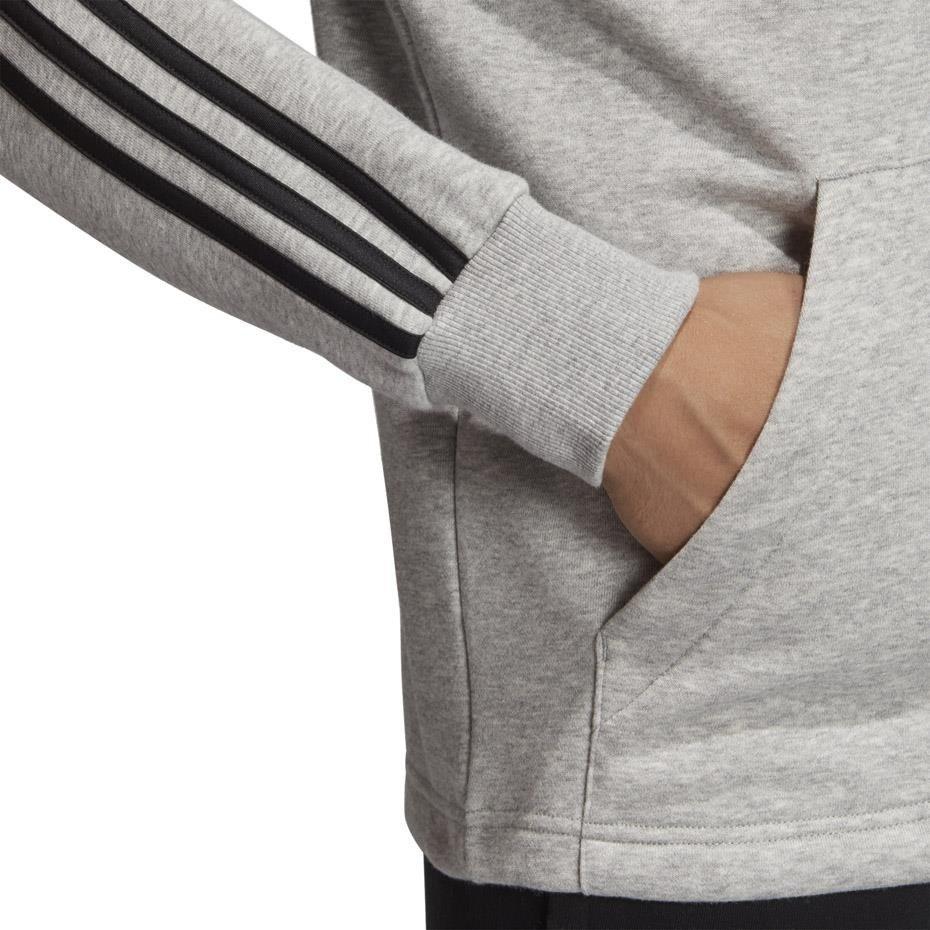 Bluza męska adidas MH 3S FZ FT szara DQ1454 | MEN Men's