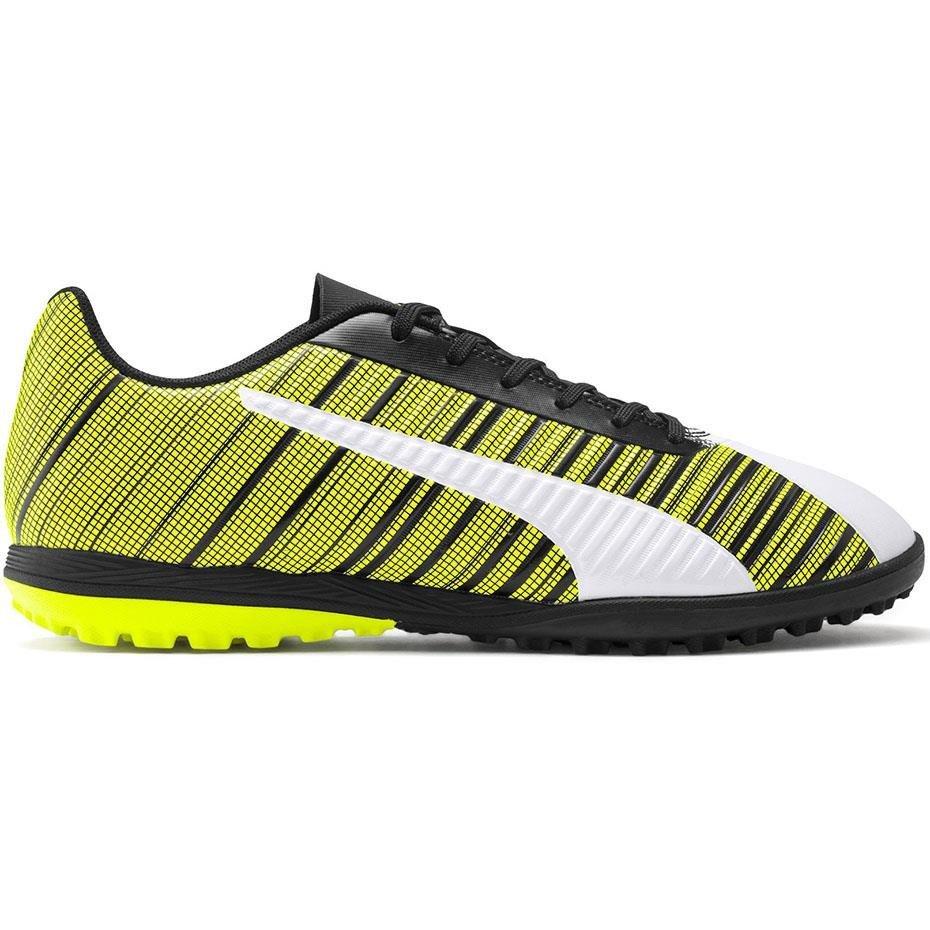 Buty piłkarskie Puma One 5.4 TT żółto biało czarne 105653 03