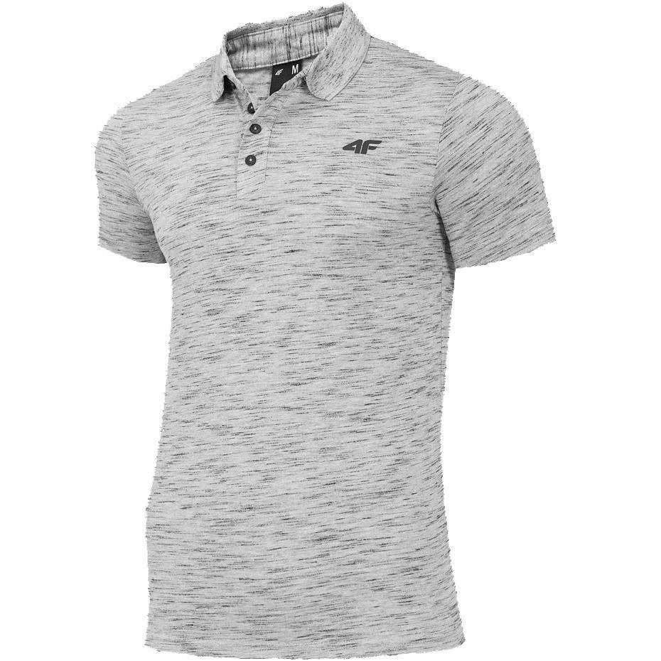 Koszulka męska 4F średni szary melanż H4Z19 TSM010 24M