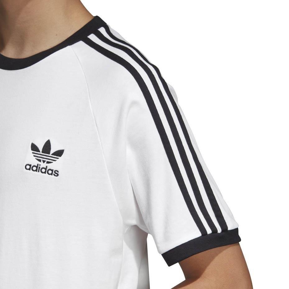 Koszulka męska Running 3 Stripes Tee Adidas (biała) sklep