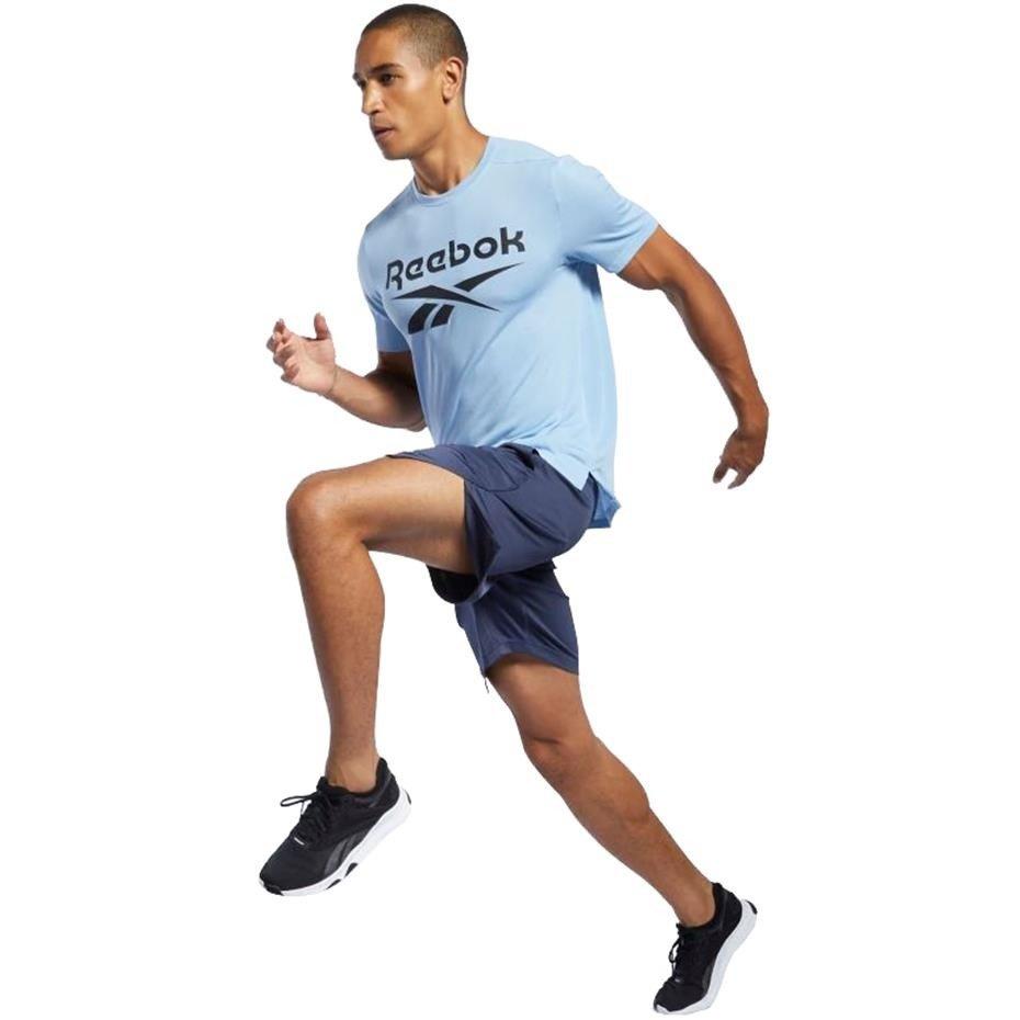 Spodenki męskie Reebok Workout Ready Commercial Knit Short niebieskie FP9188