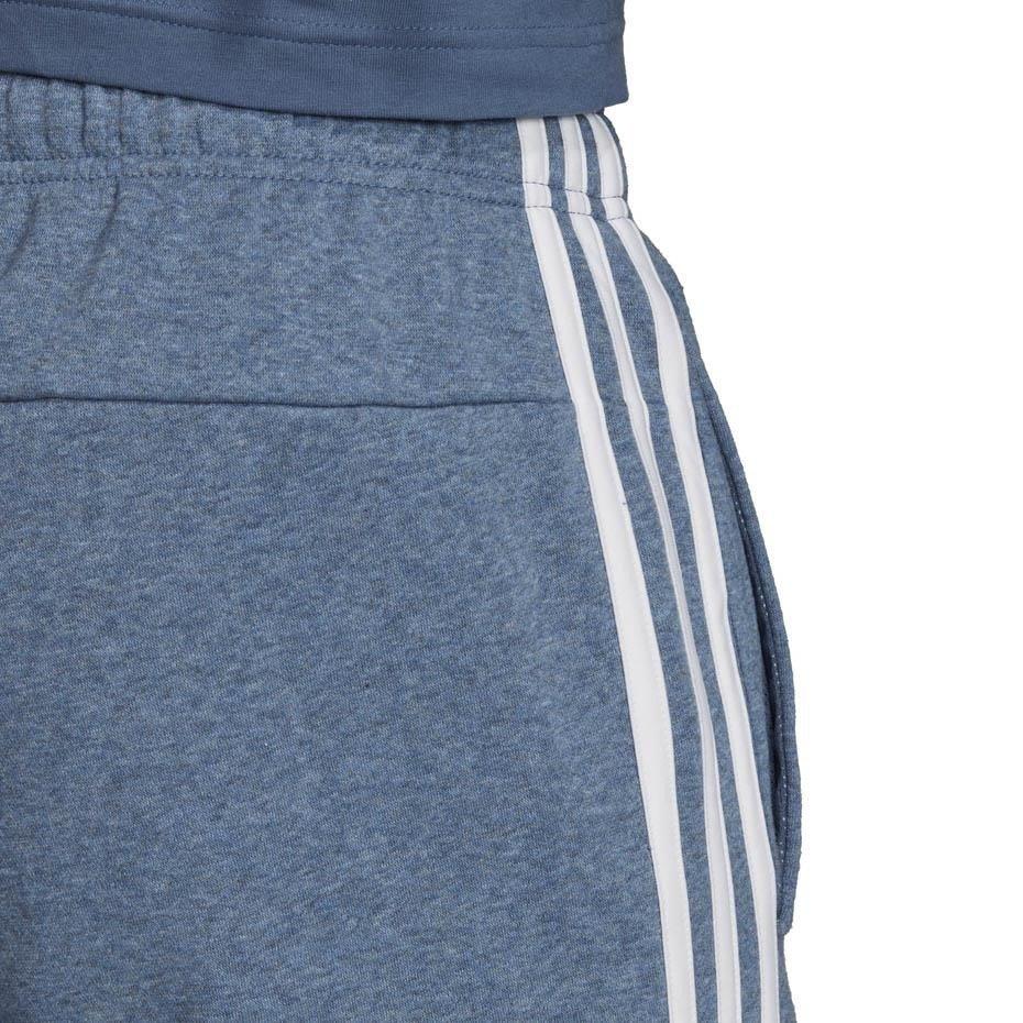 Spodnie męskie adidas Essentials 3 Stripes Tapered Pant FL niebieskie EI4909
