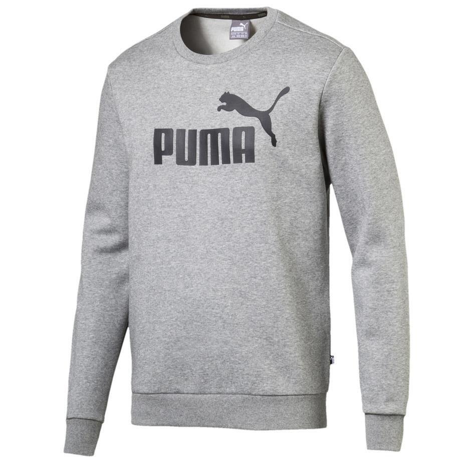 najnowsza zniżka dostać nowe szybka dostawa Bluza męska Puma Essentials Logo Crew Fl szara 851747 03