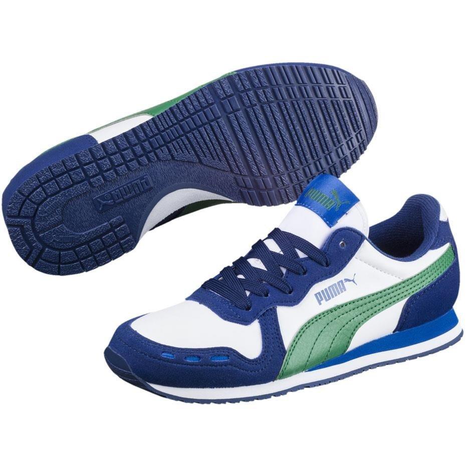 Buty dla dzieci Puma Cabacana Racer SL JR biało niebieskie 351979 51