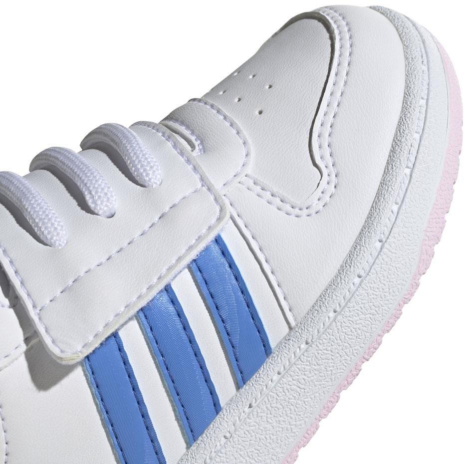 Buty dla dzieci adidas Hoops Mid 2.0 I biało niebieskie