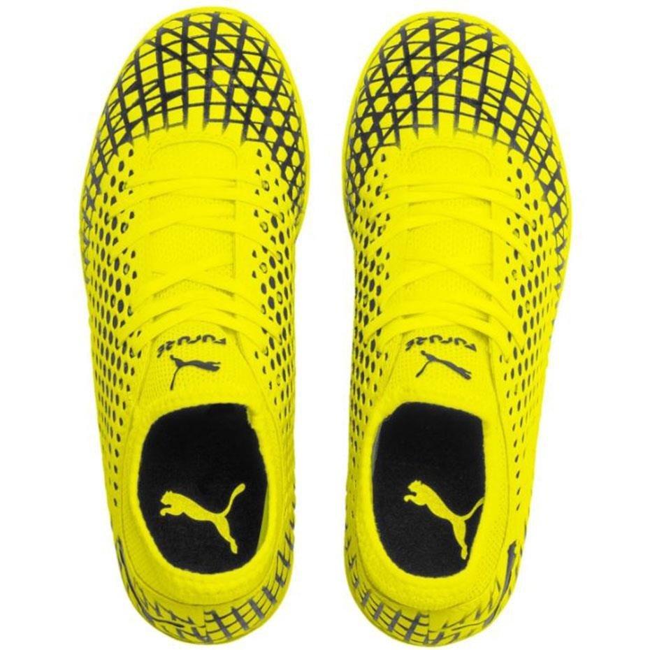 Buty piłkarskie Puma Future 4.4 IT JUNIOR żółto czarne 105700 03