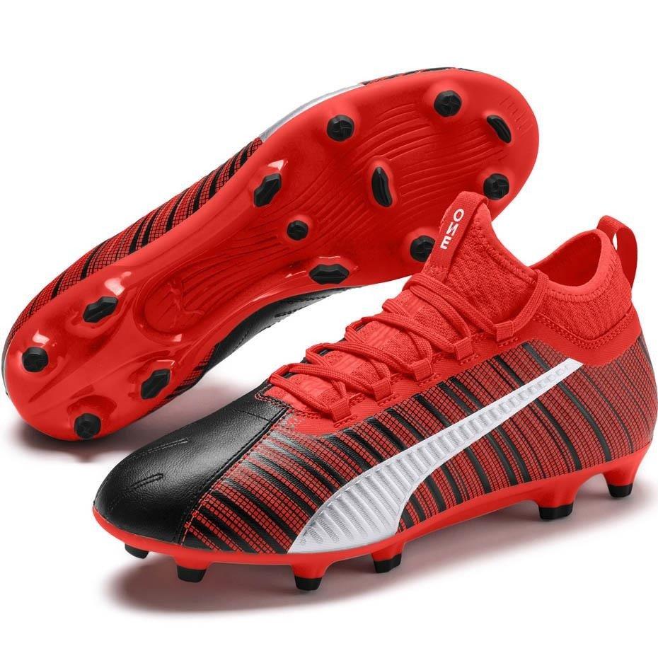 Buty piłkarskie Puma One 5.3 FG AG czerwono czarne 105604 01