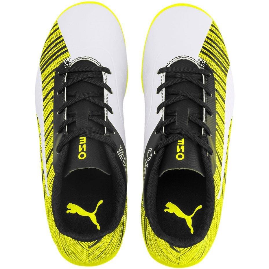 Buty piłkarskie Puma One 5.4 IT JUNIOR żółto biało czarne 105664 04