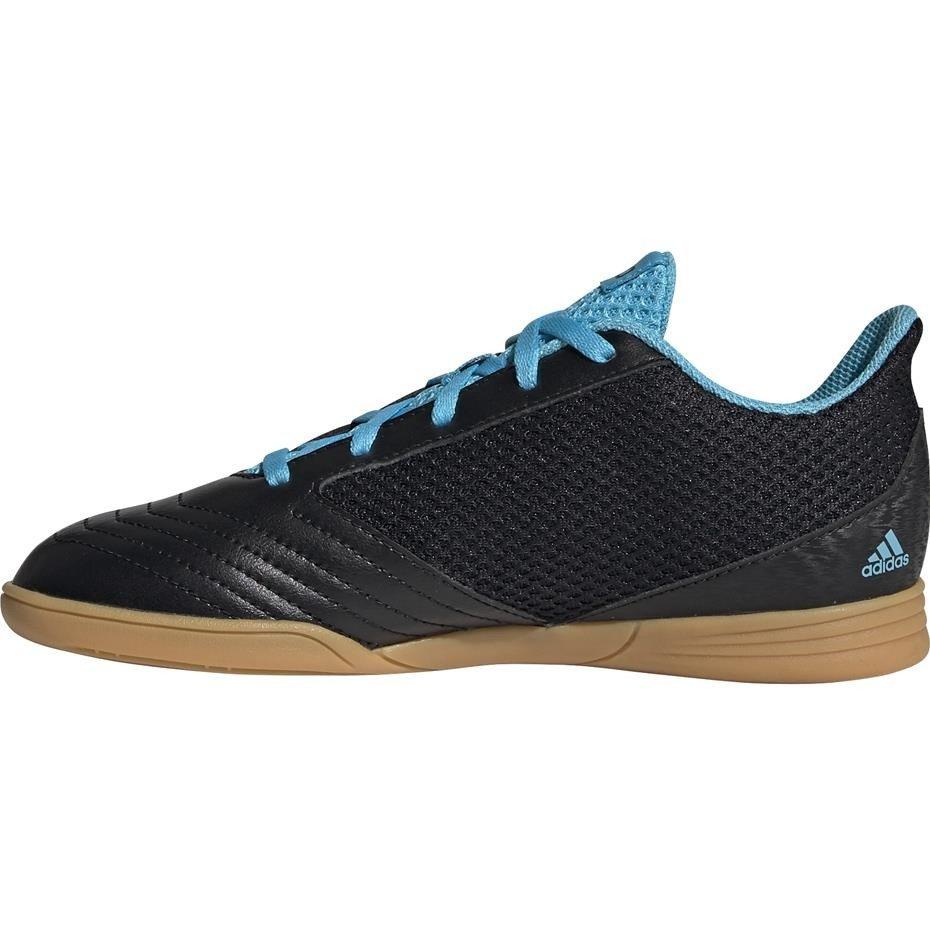 Buty piłkarskie adidas Predator 19.4 IN Sala JUNIOR czarno niebieskie G25830