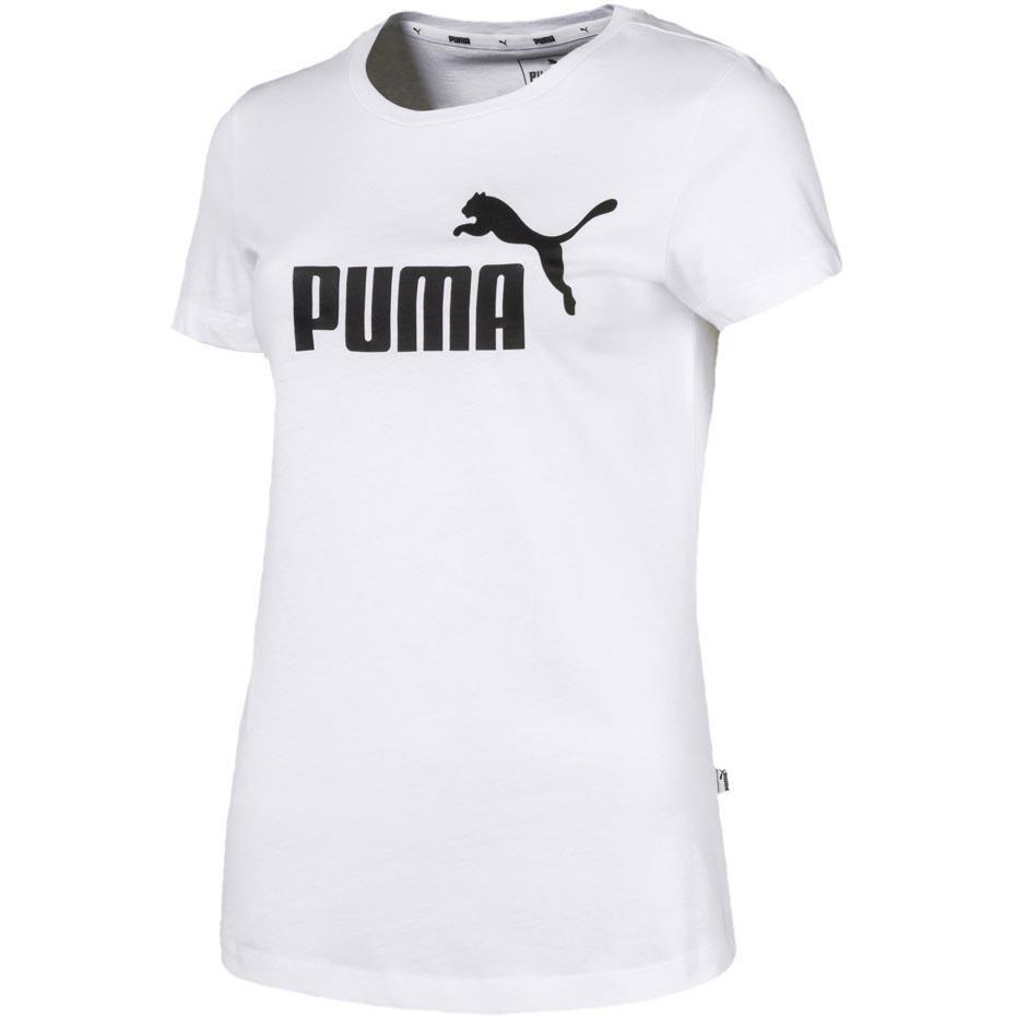 szczegółowy wygląd niepokonany x całkiem miło Koszulka damska Puma Ess Logo Tee biała 851787 02