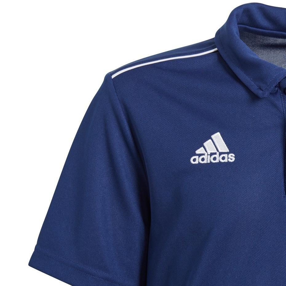 Koszulka dla dzieci adidas Core 18 Polo JUNIOR granatowy CV3680
