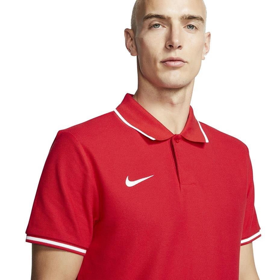 Koszulka męska Nike Team Club 19 Polo czerwona AJ1502 657