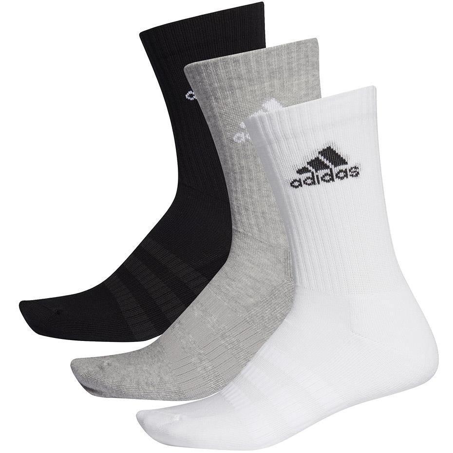 Skarpety adidas Cushioned Crew 3PP czarne, białe, szare DZ9355