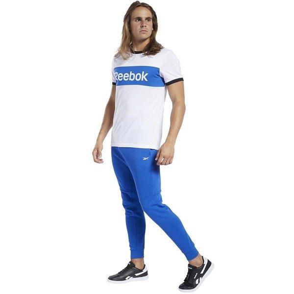 Koszulka męska Reebok TE LL Blocked SS TE biało niebiesko